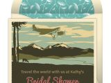 Punchbowl Bridal Shower Invitations Around the World theme Bridal Shower