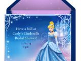 Punchbowl Bridal Shower Invitations Cinderella themed Bridal Shower
