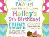 Puppy Birthday Party Invites Party Invitation Templates Dog Party Invitations