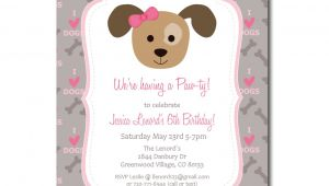 Puppy Birthday Party Invites Puppy Party Invitation with Editable Text Dog Party
