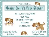 Puppy Dog Baby Shower Invitations 20 Baby Shower Invitations Puppy Dog Tails theme