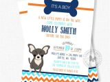 Puppy Dog Baby Shower Invitations Boy Baby Shower Invitations Puppy Baby Shower Dog Baby