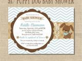 Puppy Dog Baby Shower Invitations Puppy Dog Baby Boy Shower Invitation Blue & by