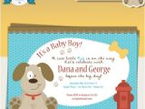 Puppy Dog Baby Shower Invitations Puppy Dog Baby Shower Invitation
