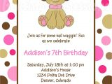 Puppy Party Invites Birthday Invites Awesome 10 Puppy Birthday Invitations