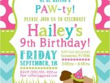 Puppy Party Invites Party Invitation Templates Dog Party Invitations