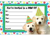 Puppy Party Invites Puppy Party Invitations