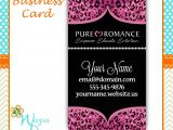 Pure Romance Party Invitation Template Pure Romance Business Card Design Sparkly Pink Cheetah