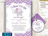 Purple and Gray Baby Shower Invitations Grey Purple Elephant Invitation Baby Shower Printable Diy