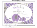 Purple and Gray Baby Shower Invitations Purple and Gray Baby Shower Invitation Template Mother & Baby