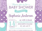 Purple and Gray Elephant Baby Shower Invitations Purple Elephant Invitation for Girls Baby Shower Charming