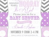 Purple and Grey Baby Shower Invitations Purple and Grey Baby Shower Invitation Various