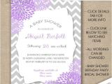 Purple and Silver Baby Shower Invitations Purple and Silver Baby Shower Invitations Yourweek