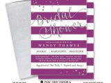 Purple and Silver Bridal Shower Invitations Purple & Silver Bridal Shower Invitation Stripes Printable
