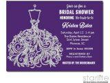 Purple and Silver Bridal Shower Invitations Purple Silver Glitter Bridal Shower Invitation
