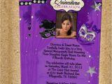Purple and Silver Quinceanera Invitations Purple Silver Masquerade Quinceanera Invitations