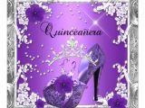 Purple and Silver Quinceanera Invitations Quinceanera 15 Birthday Party Purple Silver Invitation