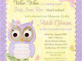 Purple and Yellow Baby Shower Invitations butterfly Owl Baby Shower Invitation Pastel Bir whoo