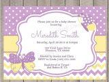Purple and Yellow Baby Shower Invitations Items Similar to Purple and Yellow butterflies Baby Shower