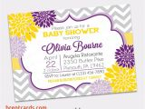 Purple and Yellow Baby Shower Invitations Purple and Yellow Baby Shower Invitations Purple and