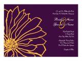 Purple and Yellow Wedding Invitations Purple and Yellow Floral Wedding Invitation Zazzle