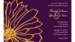 Purple and Yellow Wedding Invitations Purple and Yellow Floral Wedding Invitation Zazzle