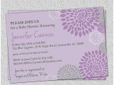 Purple Baby Shower Invitation Templates Baby Shower Invitation Awesome Purple Baby Shower