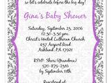 Purple Baby Shower Invitation Templates Purple Baby Shower Invitations Party Xyz