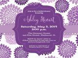 Purple Baby Shower Invitation Templates Purple Bridal Shower Invitations Purple butterfly Bridal