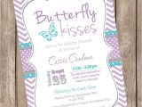 Purple Baby Shower Invitation Templates Purple butterfly Baby Shower Invitations