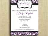 Purple Baby Shower Invitation Templates theme Purple Baby Shower Invitation Templates Purple