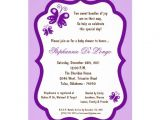 Purple butterfly Baby Shower Invites 5×7 Light Purple butterfly Baby Shower Personalized