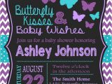 Purple butterfly Baby Shower Invites butterfly Baby Shower Invitation Purple and Teal