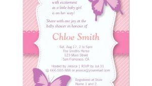 Purple butterfly Baby Shower Invites Elegant Purple butterfly Baby Shower 4 25×5 5 Paper
