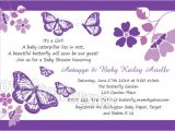 Purple butterfly Baby Shower Invites Purple butterfly Baby Shower Invitations