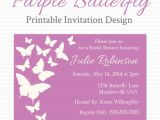 Purple butterfly Bridal Shower Invitations Purple butterfly Baby Shower Invitation butterfly Bridal