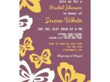 Purple butterfly Bridal Shower Invitations Purple butterfly Bridal Shower Wedding Invitation