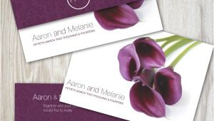 Purple Calla Lily Wedding Invitations Calla Lily Wedding Invitation Ink Wedding Invitations