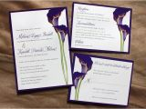 Purple Calla Lily Wedding Invitations Floral Archives Page 5 Of 23 Emdotzee Designs