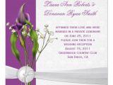 Purple Calla Lily Wedding Invitations Purple Calla Lilies White Damask Post Wedding 5 25×5 25