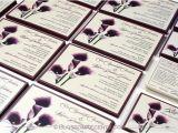 Purple Calla Lily Wedding Invitations Wedding Blossoms Purple Calla Lily Wedding Invitation