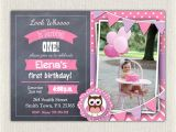 Purple Owl First Birthday Invitations Purple Birthday Invitation Girls Owl Lavender 1st 2nd 3rd