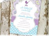 Purple Paisley Baby Shower Invitations Ce Upon A Time Baby Shower Purple Aqua Invitation