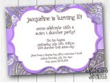 Purple Paisley Baby Shower Invitations Paisley Baby Shower Bridal Shower or Birthday Invitation