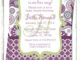 Purple Paisley Baby Shower Invitations Purple Paisley A Custom Shower Invitation by