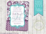Purple Paisley Baby Shower Invitations Purple Paisley A Customizable Baby Shower Invitation On