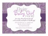 "Purple Paisley Baby Shower Invitations Purple Paisley Baby Girl Shower Invitation 5"" X 7"
