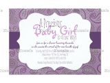 Purple Paisley Baby Shower Invitations Purple Paisley Baby Girl Shower Invitation