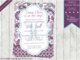 Purple Paisley Baby Shower Invitations Purple Paisley Blues A Custom Shower Invitation Purple