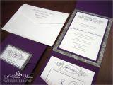 Purple Silver and Black Wedding Invitations Purple and Gray Wedding Invitation A Vibrant Wedding
